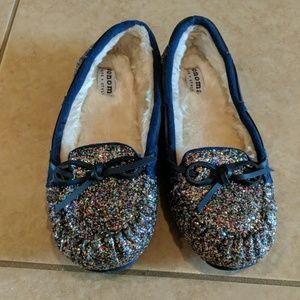 Girls Slipper Glitter Moccasins